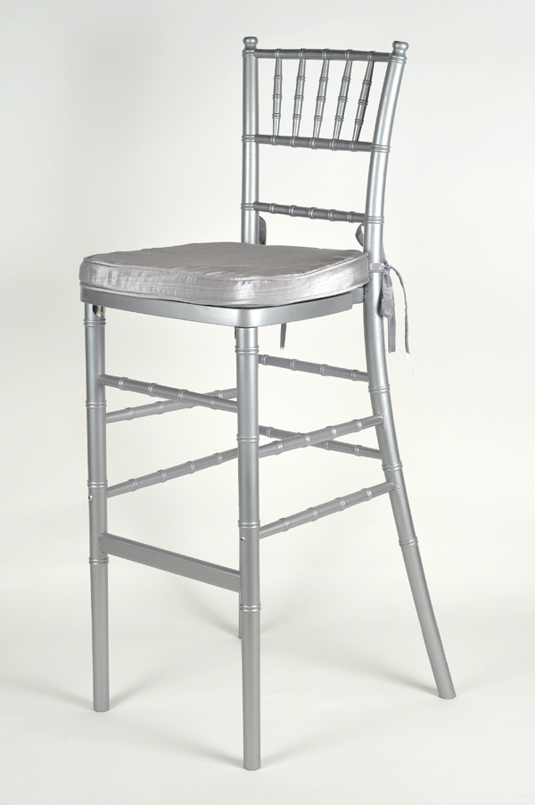 Chivari Bar Stool Silver