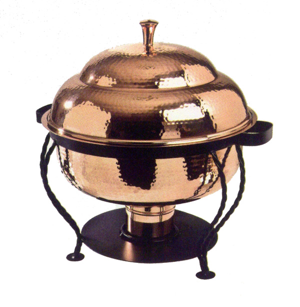 Chafer Copper Round 8 Qt Professional Party Rentals