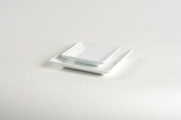 White Plate (5\u2033 Square) & White Plate (5\u2033 Square) \u2013 Professional Party Rentals