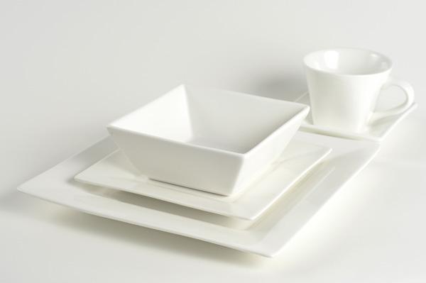 White Square Bowl 5 75