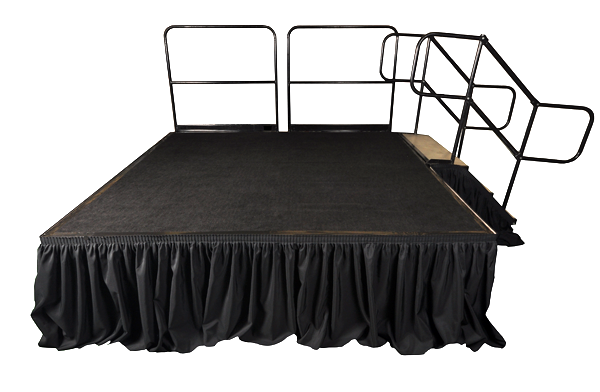 Stage Rails Per 4ft Section Professional Party Rentals