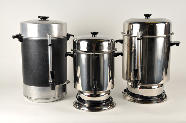 Coffee Maker Rental : Coffee Maker, 100 Cup, Black (Left image) Professional Party Rentals