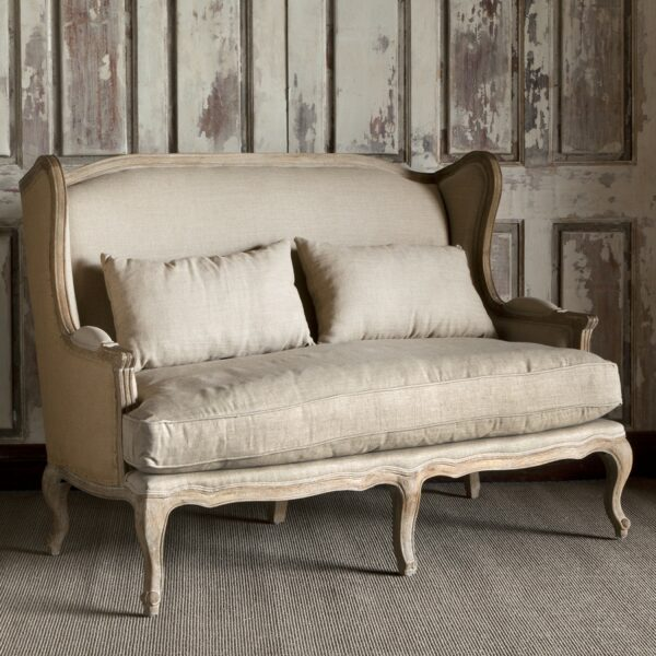 Park Hill Wingback Settee Professional Party Rentals