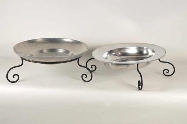 Pewter Bowl Oval Right Image Professional Party Rentals