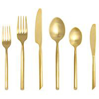 GOLD CAPRI FLATWARE