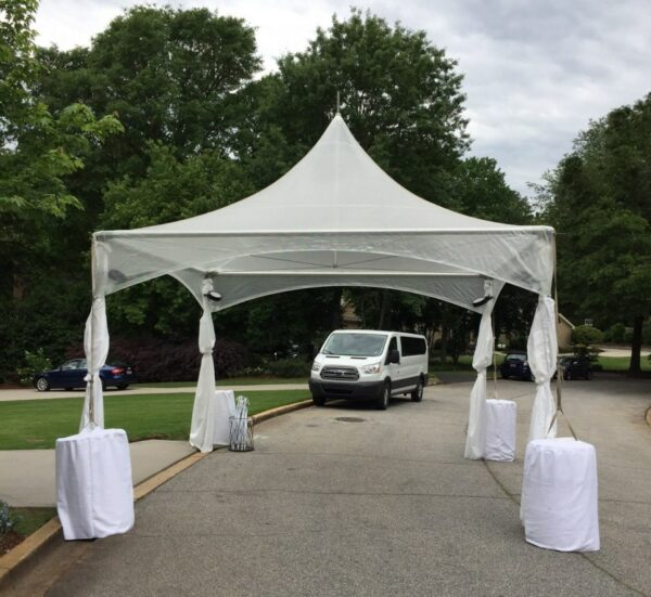 15 X 15 Clear Top High Peak Professional Party Rentals