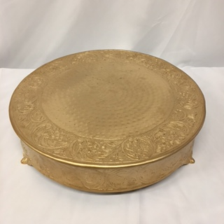 Matte Gold Cake Stand 18 Round Professional Party Rentals