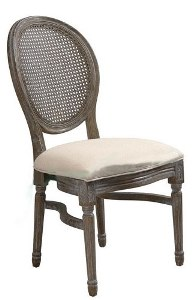 King Louis Chair W Rattan Back Professional Party Rentals