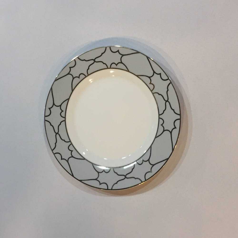 Firenze Salad Plate Grey Gold 8 Professional Party