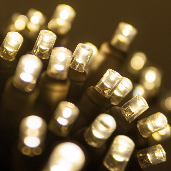 Led Mini Lights Brown Cord Per Ft Professional Party