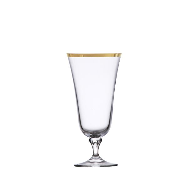 Glass Gold Rimmed Water Professional Party Rentals
