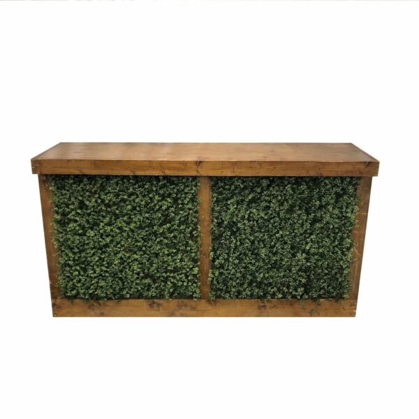6ft Rustic Bar W Boxwood Panels Professional Party Rentals