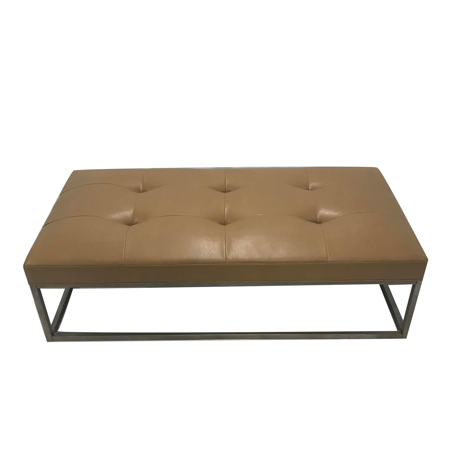 Camel Leather Ottoman – Professional Party Rentals