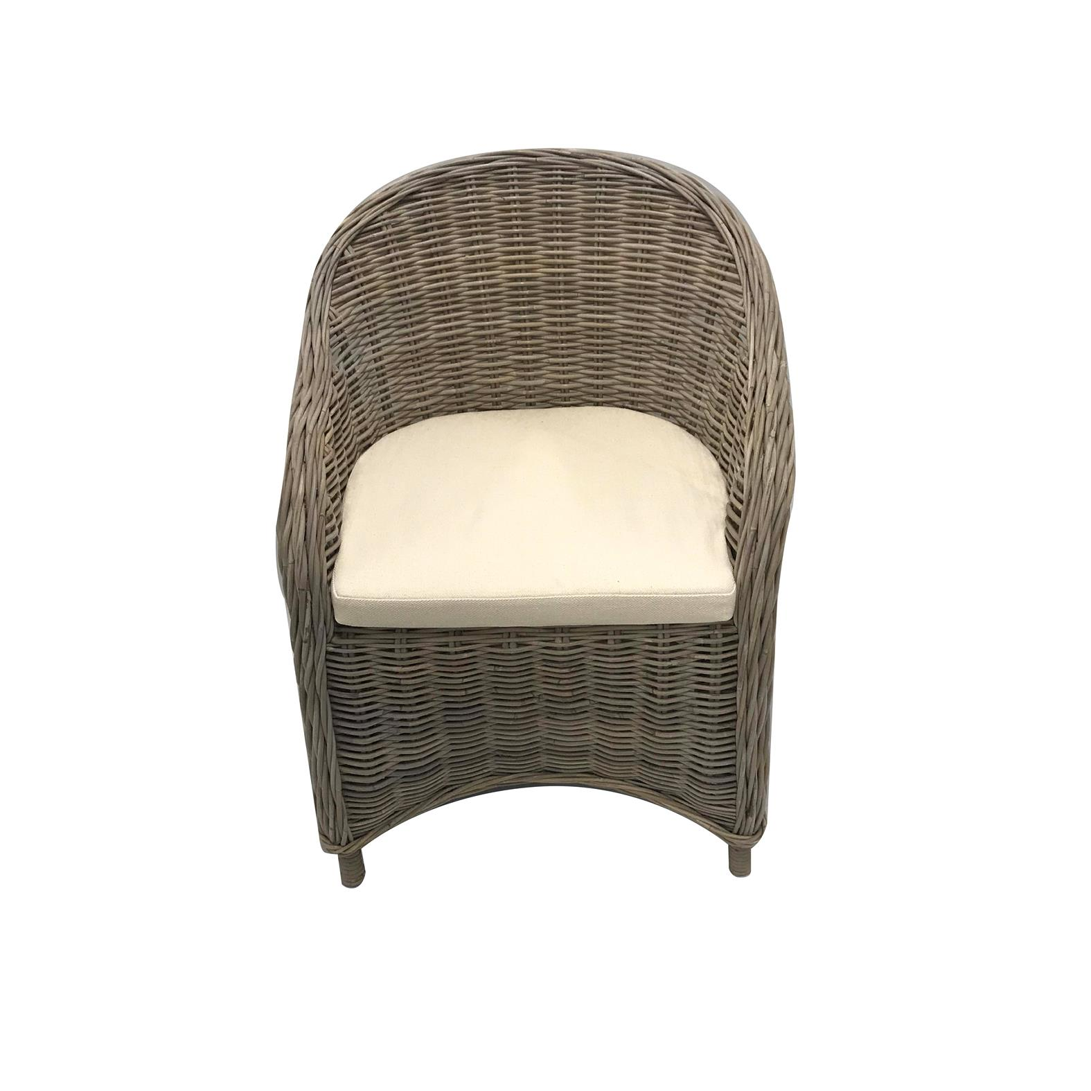 Norman Armchair Wicker Professional Party Rentals